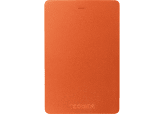 TOSHIBA Disque dur externe Canvio ALU 3S 1 TB Rouge (HDTH310ER3AA)