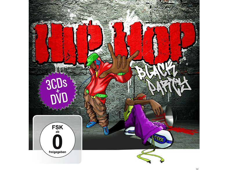 VARIOUS - Hip Hop Black Party (3cd+Dvd) [CD + DVD Video]