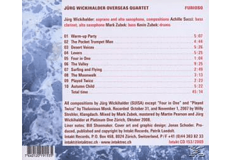 Jürg / Overseas Quartet Wickihalder - Furioso - (CD)