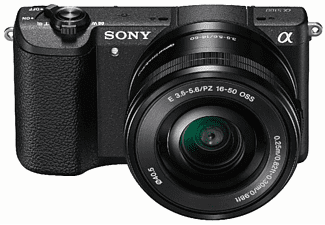 Cámara EVIL - Sony ILCE 5100L, CMOS 24.3 MP, Full HD, Wi-Fi, NFC +  E PZ 16-50mm f/3.5-5.6 OSS