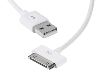 VIVANCO 30-pin iPhone USB-kabel 1,5 m - Vit