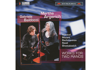 Martha Argerich, Gabriele Baldocci - Works For Two Pianos - (CD)