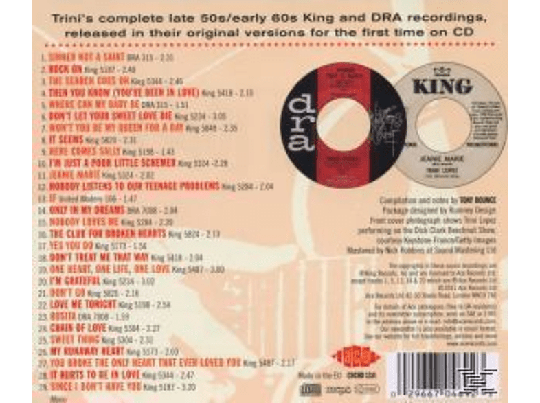 Trini Lopez - Sinner Not A Saint - The Complete King And Dra Recording [CD]