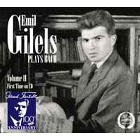 Emil Gilels (pno) - Gilels plays Bach [CD]