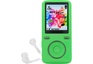 DIFRNCE DF-MP 1805, Mp4-Player, 8 GB, Akkulaufzeit: 8 Std. (Audio), 2.5 Std. (Video), Grün