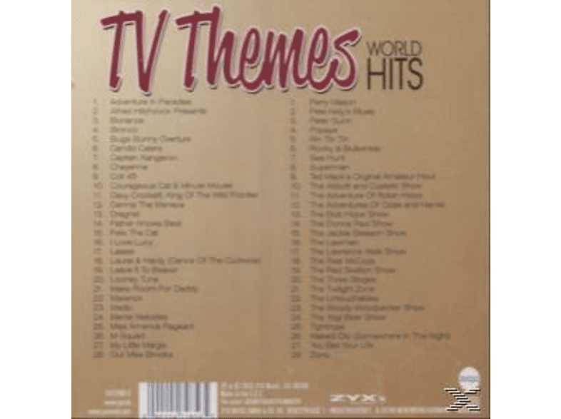 VARIOUS - Tv Themes World Hits [CD]