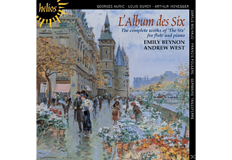 "Emily Beynon, Andrew West - The complete works of ""The Six"" for flute and piano - (CD)"