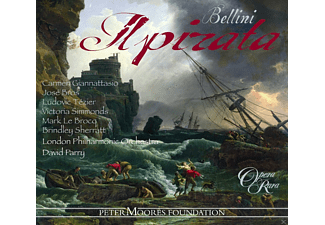 Ludovic Tézier, Carmen Giannattasio, Brindley Sherratt, Mark Le Brocq, Victoria Simmonds, José Bros, David Parry, Geoffrey Mitchell Choir, Giannattasio/Parry/London Philharmonic Orchestra/+, The London Philharmonic Orchestra - Il Pirata - (CD)