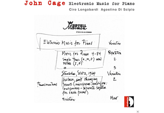 Di Scipio Longobardi - Cage: Electronic Music For Piano - (CD)