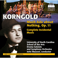 University of North Carolina Symphony Orchestra - Much Ado about Nothing, Op.11, Complete Incidental Music [CD]