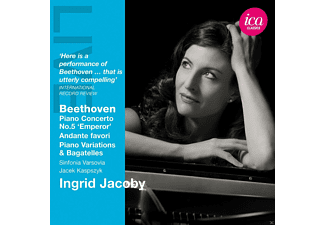 Ingrid Jacoby, The Sinfonia Varsovia - Piano Concerto No.5 'Emperor' / Andante favori / Piano Variations & Bagatelles - (CD)