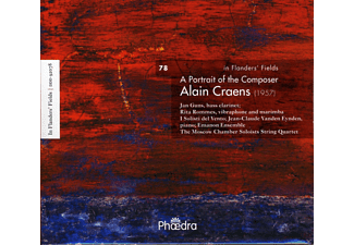 Jan Guns, Rita Rommes, The Moscow Chamber Soloists String Quartet - A Portrait of the Composer Alain Craens - (CD)