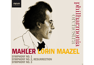 Lorin Maazel, Billy Connolly, The Philharmonia Orchestra - Mahler: Sinfonie 1/2/3 - (CD)