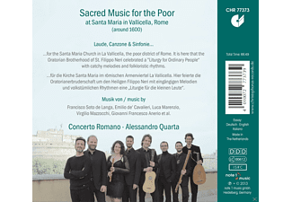 Concerto Romano - Sacred Music For The Poor - Populäre Geistliche Musik Für Die Armen Um 1600 - (CD)