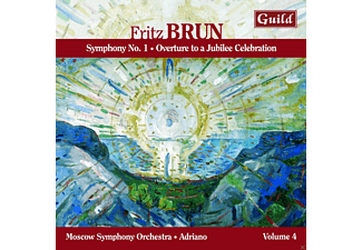 Adriano, Moscow Symphony Orchestra - Brun: Symphony No. 1 - Overture to a Jubilee Celebration - (CD)