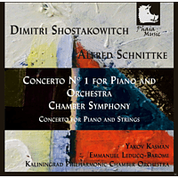Yakov Kasman, Kaliningrad Philharmonic Chamber Orchestra - Shostakowitch & Schnittke: Concerto No. 1 For Piano And Orchestra [CD]