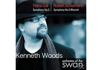 Orchestra Of The Swan, Kenneth Woods - Sinfonie 3 & Rhenish - (CD)