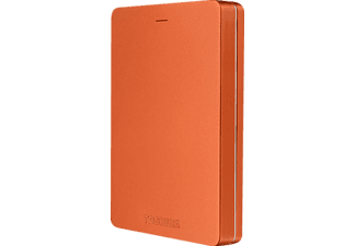 TOSHIBA Disque dur externe Canvio ALU 3S 500 GB Rouge (HDTH305ER3AA)
