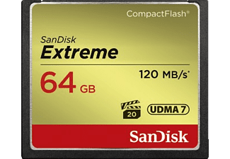 SANDISK Extreme Compact Flash Speicherkarte, 64 GB, 120 MB/s