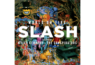 Slash, Myles Kennedy, The Conspirators - World On Fire (CD+T-Shirt M) - (CD)