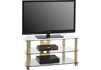 MAJA 16089978 1608, TV-Rack, Messing - Klarglas