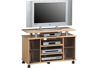MAJA 73624831 7362, TV-Rack, Buche - Alu-Optik