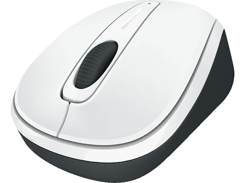 MICROSOFT Wireless Mobile Mouse 3500 Maus, Weiß Glänzend