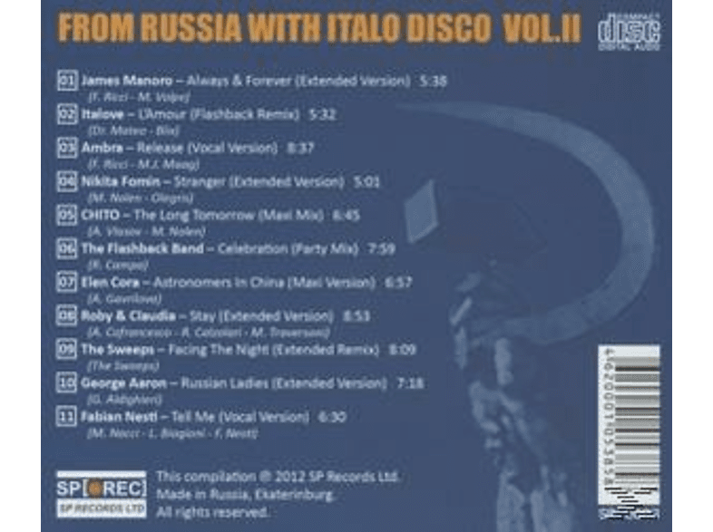 VARIOUS - From Russia With Italo Disco Vol.2 [CD]