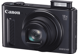 CANON Power Shot SX610 HS Kompaktkamera, 20.2 Megapixel, 18x opt. Zoom, Back Illuminated CMOS Sensor, Near Field Communication, WLAN, 25-450 mm Brennweite, Schwarz