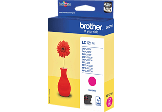 BROTHER Original Tintenpatrone Magenta (LC-121M)