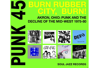 VARIOUS - Punk 45:Burn Rubber City, Burn! [CD]
