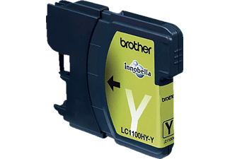 BROTHER Original Tintenpatrone Gelb (LC-1100HYY)