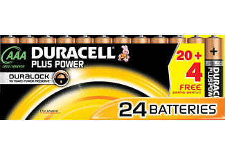 DURACELL AAA PLUS POWER ALKALINE 24PCS