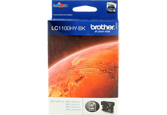 BROTHER Original Tintenpatrone Schwarz (LC-1100HYBK)