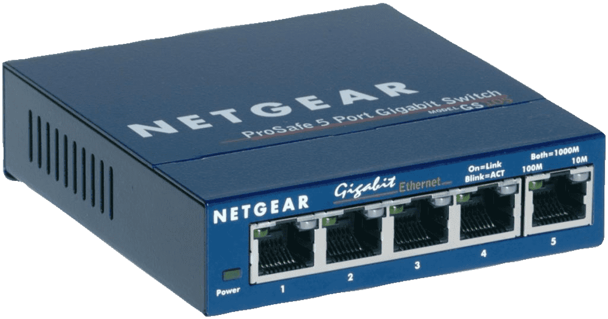 NETGEAR GS 105 Switch, Blau