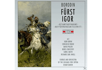 Igor Gorin, Consuelo Rubio, David Poleri, Boris Christoff, Carol Smith, Orchestra of the Chicago Lyric Opera - Fürst Igor (Knjas Igor) - (CD)