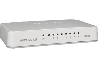 Netgear FS 208-100Pes - Switch (Blanc)