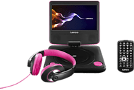 LENCO DVP-754 Tragbarer DVD Player, Pink