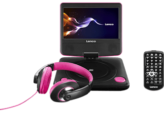 LENCO DVP-754 Tragbarer DVD Player Pink