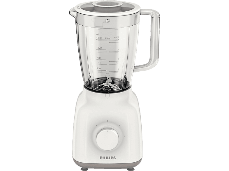 PHILIPS HR 2100/00 Daily Collection Standmixer Weiß/Beige (400 Watt, 1.25 l) | 08710103594918