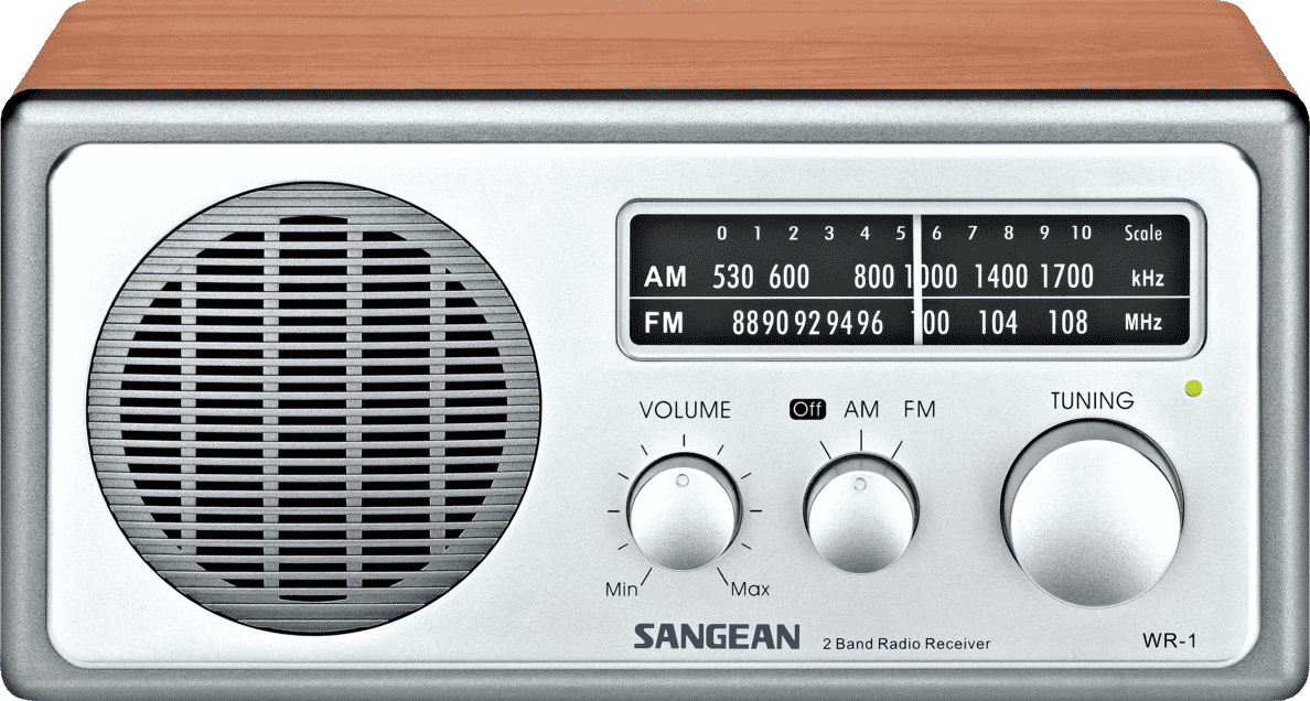 SANGEAN WR-1 Radio in Walnuss