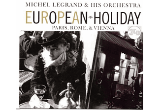 Michel & His Orchestra Legrand - European Holiday: Paris,Rome & Vie - (CD)