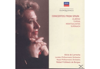 Alicia Delarrocha, London Philamonic Orchestra, Royal Philharmonic Orchestra, Rafael Frühbeck De Burgos - Concertos from Spain - (CD)