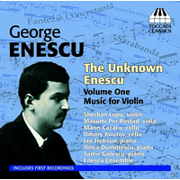 VARIOUS - The Unknown Enescu Vol.1 -  Music for Violin [CD]
