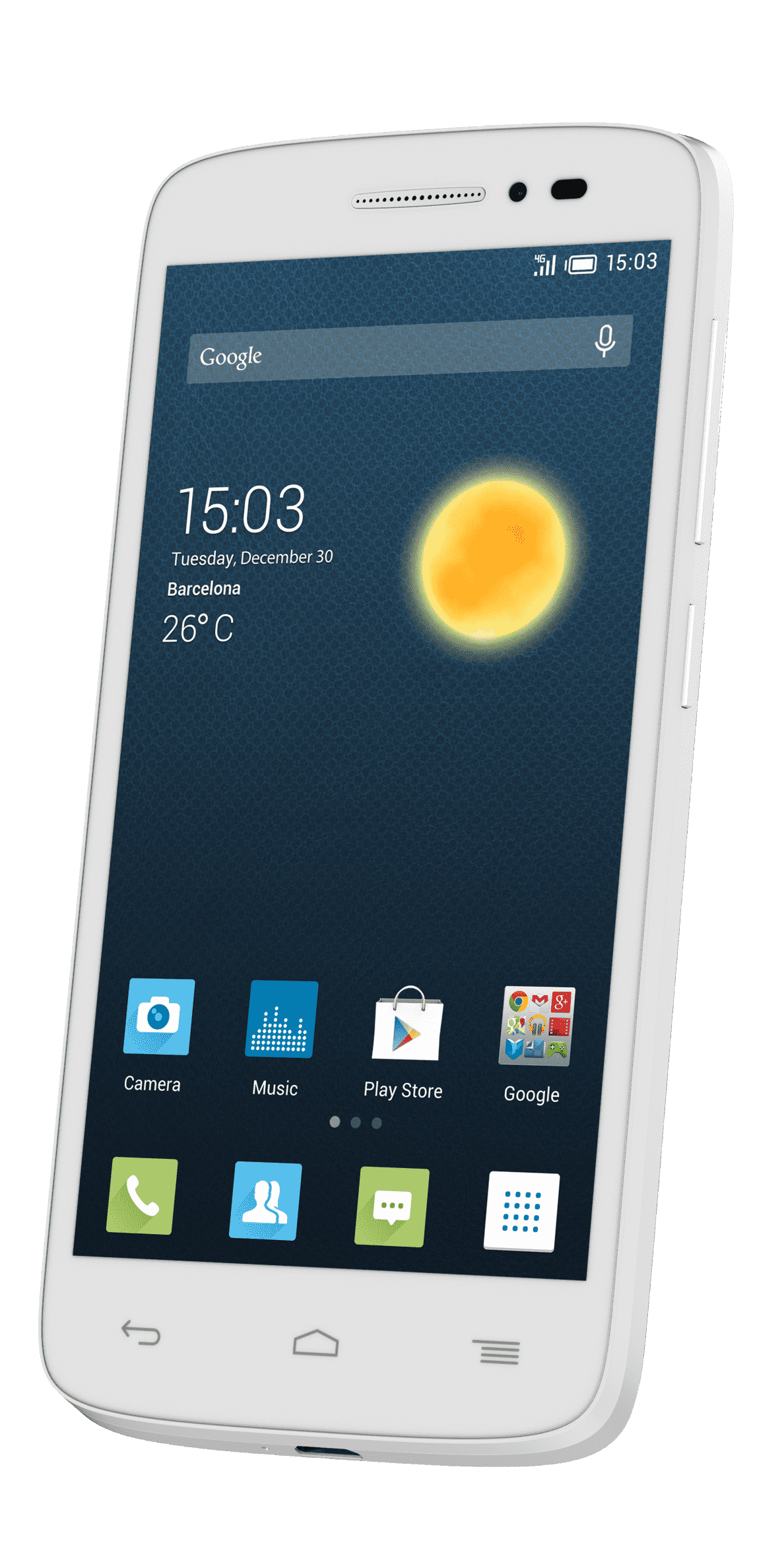 ALCATEL One Touch POP 2 5042D, 5 GB, Weiß, Dual SIM
