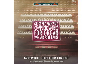 Davide Merello, Luisella Ginanni Traverso - Manzino: Complete Works For Organ Two And Four Hands [CD]