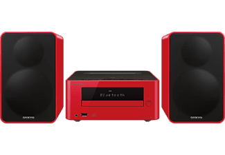 ONKYO CS-265 Kompaktanlage (Bluetooth Docking,  iPod Steuerung, Rot)