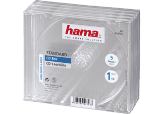 HAMA CD-Leerhülle Standard, 5er-Pack, Transparent