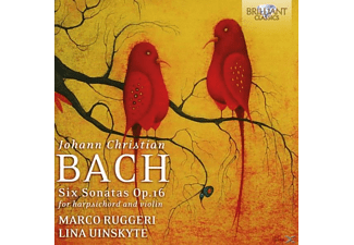 Marco Ruggeri, Lina Uinskyte - Six Sonatas Op.16 For Harpsichord And Violin - (CD)