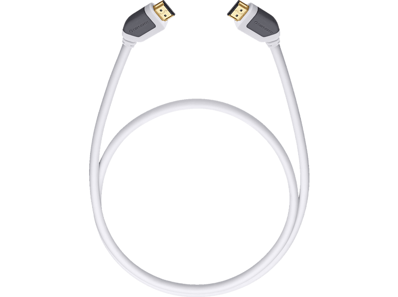 OEHLBACH High-Speed-HDMI®-Kabel mit Ethernet Shape Magic 170 1,7m High-Speed-HDMI-Kabel, Weiß